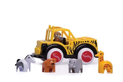 Jumbo Safari Truck with Guide and Animals