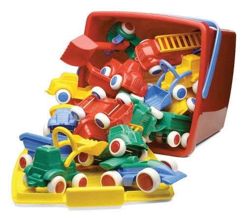 Maxi Vehicles Bucket Set - 18 Pieces