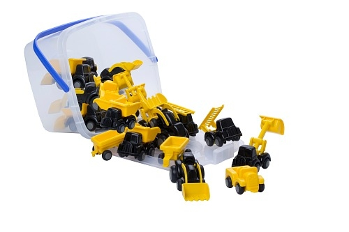 Construction Mini Chubbies Bucket Set 30pcs