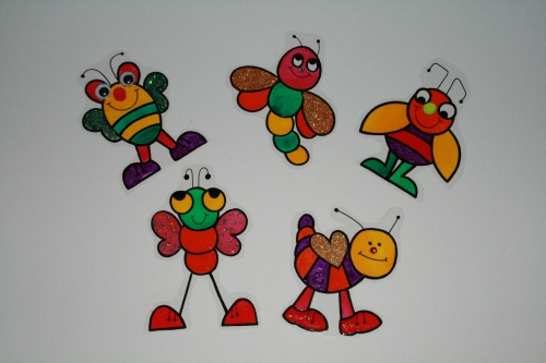Glass Painted - Bug Magnets