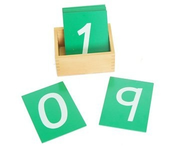Sand Paper Numbers with Box