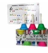 Rainbow Handbells - Set of 8